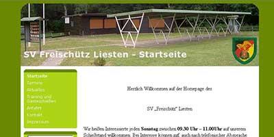 Website SV Freischütz Liesten